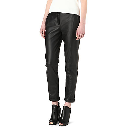 THEORY Kanga leather trousers (Black