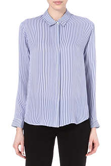 THEORY Conventional Aquilina B striped silk shirt