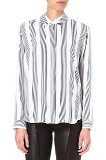 THEORY Aquilina striped silk shirt