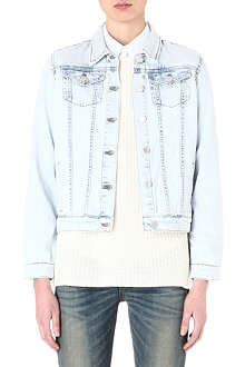 THEORY John bleached denim jacket