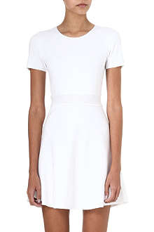 THEORY Mollia pleated-front dress
