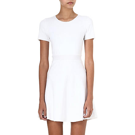 THEORY Mollia pleated-front dress (White