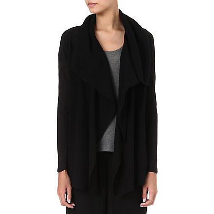 THEORY Maritza draped cardigan (Black