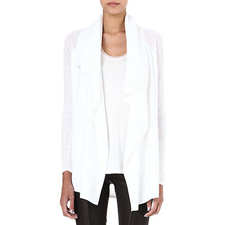 THEORY Maritza draped cardigan (White