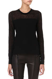 THEORY Ofenia sheer-panel jumper