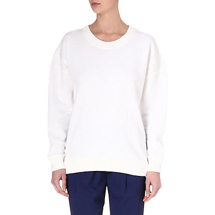 THEORY Cotton sweatshirt (White