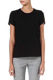 THEORY Rodiona silk-back t-shirt