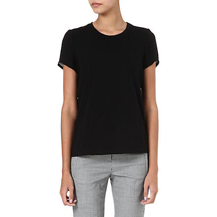 THEORY Rodiona silk-back t-shirt (Black