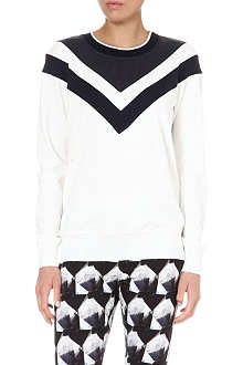 THEORY Damiel contrast arrow sweatshirt