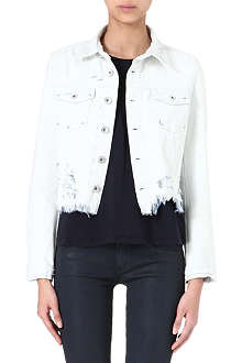 THEYSKENS' THEORY Jenja distressed denim jacket