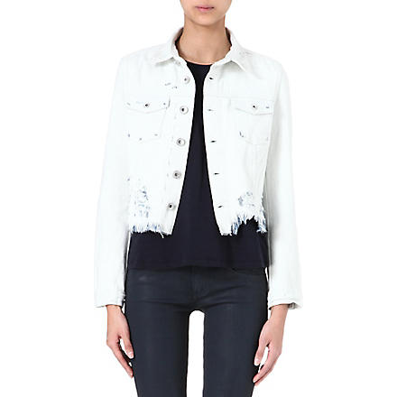 THEYSKENS' THEORY Jenja distressed denim jacket (Plaster