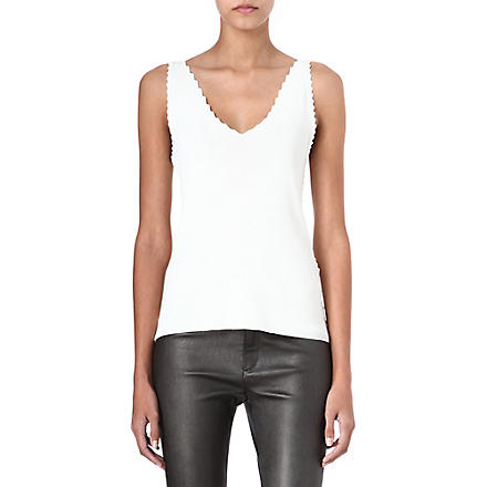 THEYSKENS THEORY Koemi scallop-edged vest (White