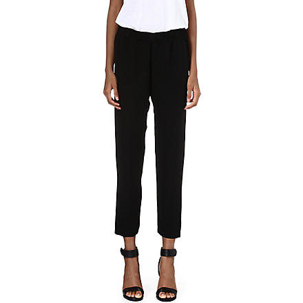 THEORY Korene silk trousers (Black