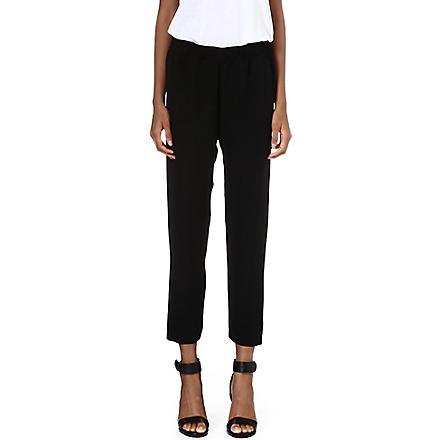THEORY Korene silk trousers (Black