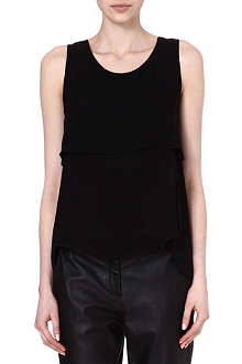 THEORY Apala silk sleeveless top