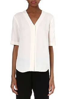THEORY Silk v-neck top