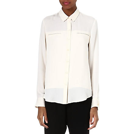 THEORY Olava silk shirt (Ivory