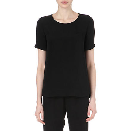 THEORY Katsley silk T-shirt (Black