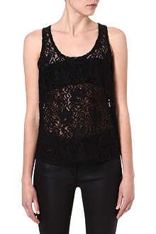 THEORY Veneza Isaac lace top