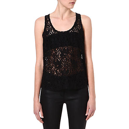 THEORY Veneza Isaac lace top (Black