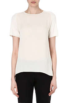 THEORY Branza silk and wool-blend top