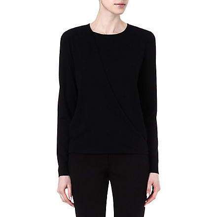 THEORY Fluidity Sempra wool and silk-blend jumper (Black