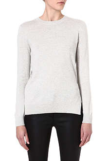 THEORY Boslyn cotton and cashmere-blend jumper