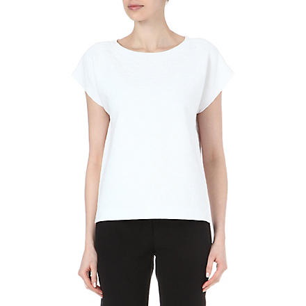 THEORY Mega Sorchan textured top (White