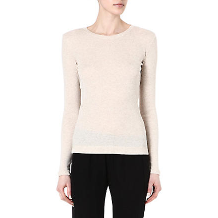THEORY Kanitta long-sleeved jersey top (Chalk heather