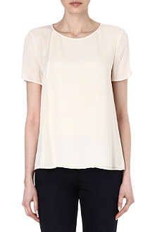 THEORY Newnan layered silk top