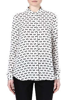 THEORY Arrow print silk shirt