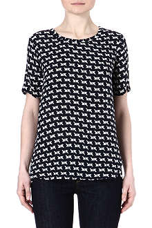 THEORY Katsley arrow-print silk t-shirt