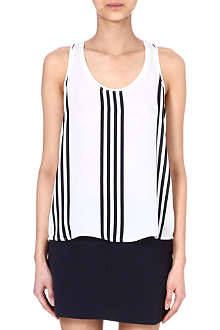 THEORY Silk stripe vest