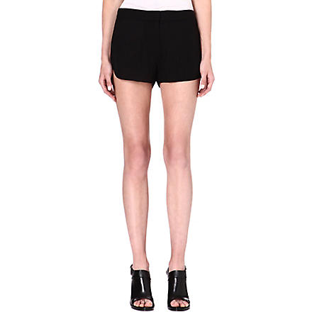 THEORY Nadrea silk shorts (Black