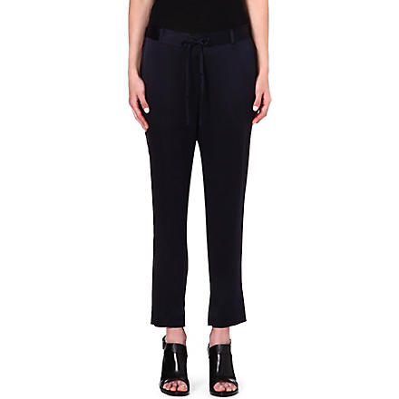 THEORY Pyjama satin trousers (Navy