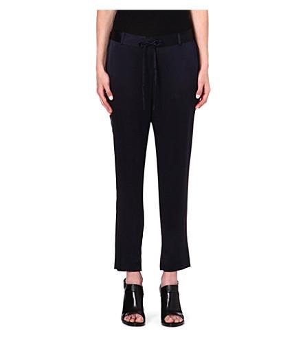 THEORY Pyjama satin trousers (Navy
