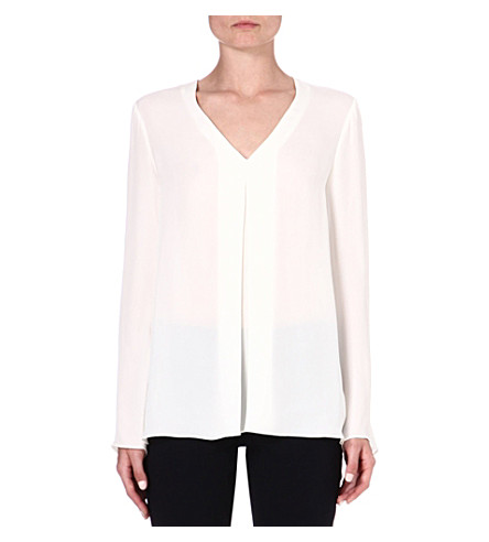 THEORY Trent silk blouse (Ivory