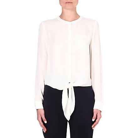 THEORY Kevine silk blouse (Ivory