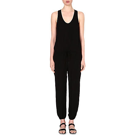 THEORY Lortan silk jumpsuit (Black