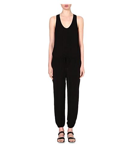 THEORY Lortan silk jumpsuit (Black