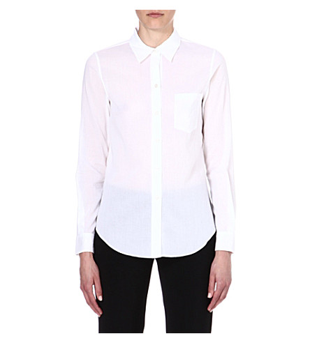 THEORY Perfect cotton shirt (White