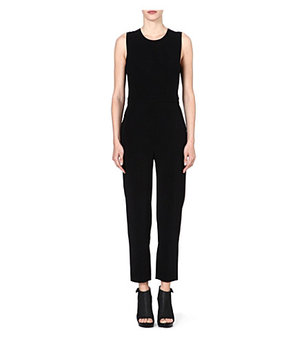 THEORY Remaline crepe jumpsuit (Black