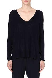 THEORY Larlissa linen-blend jumper