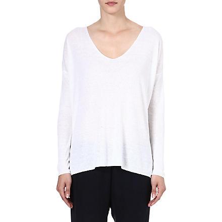 THEORY Larlissa linen-blend jumper (White