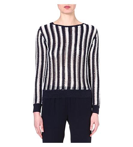 THEORY Amena linen-blend jumper (White