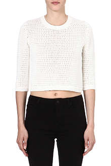 THEORY Harmonia Arabis cropped jumper
