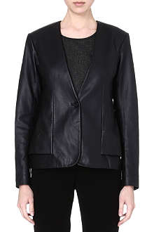 THEORY Easeful leather jacket