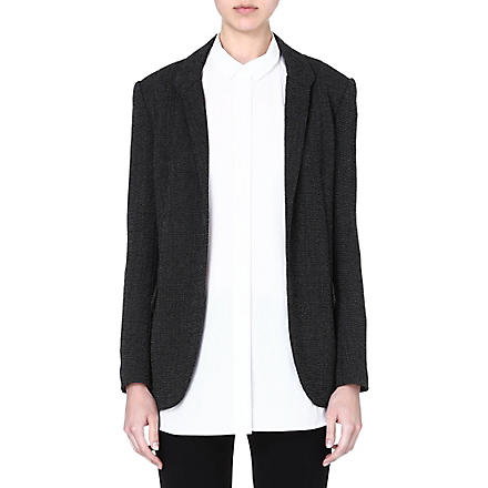 THEORY Forella tweed blazer (Black/white