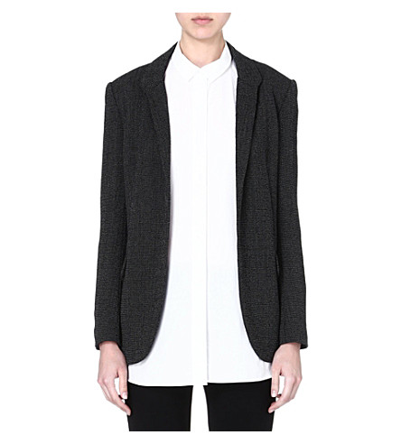 THEORY Forella tweed blazer (Black/white