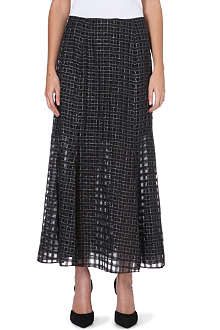 THEORY Swind sheer-detail midi skirt
